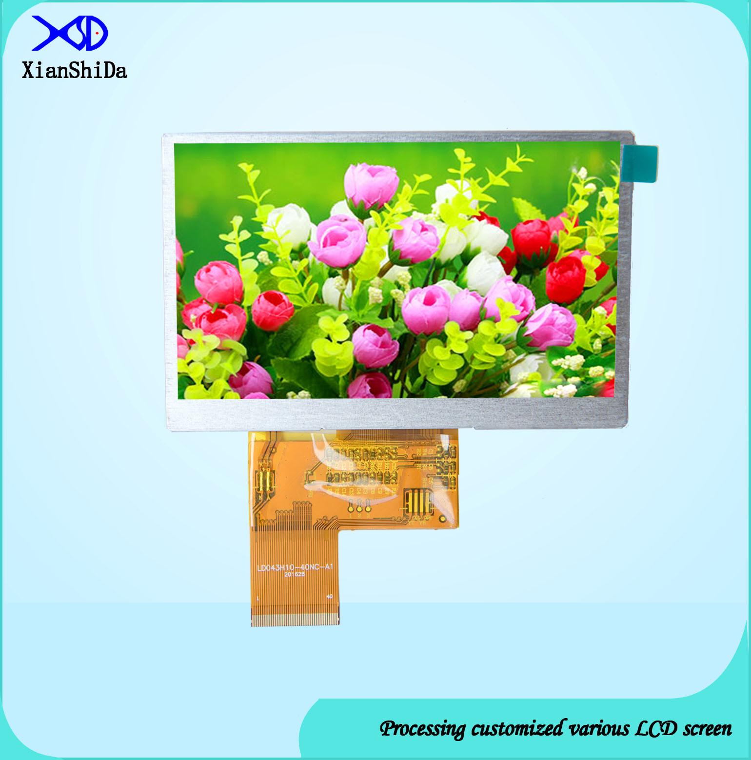 1000CD/M&Sup2 High Brightness 4.3 Inch TFT LCD Screen 480 (RGB) X272 Resolution