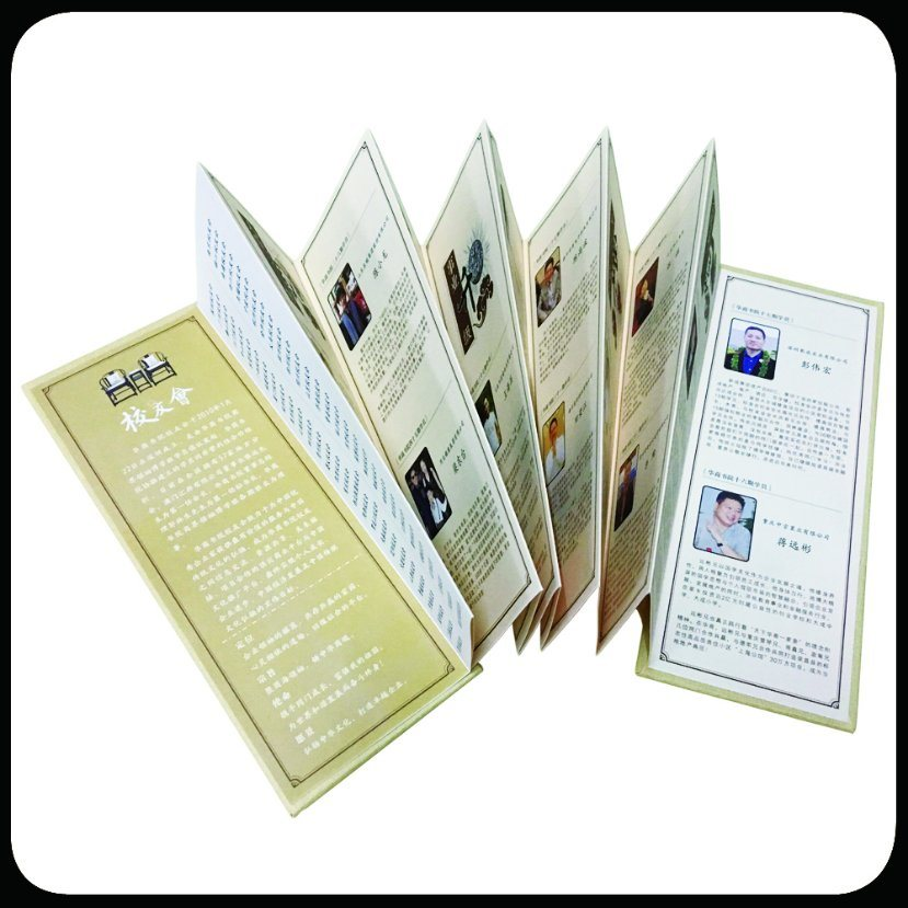 Folded Leaflet Custom Brochure Printing Catalog Printing with Spot-UV