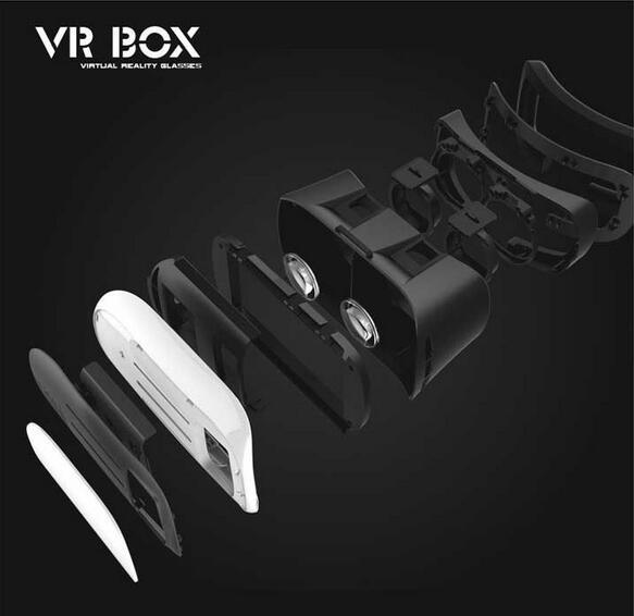 "3D Glasses Virtual Reality Vr Headset Vr Box 2.0 for 4""-6"" Phone"