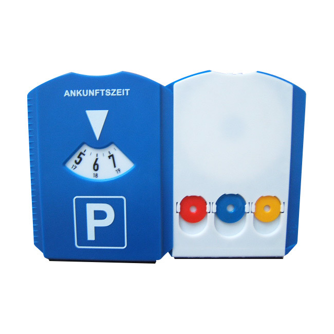 Promotional Ice Scraper with Parking Disk Plastic Car Parking Timer Disc