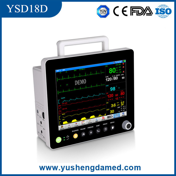 ECG NIBP Hospital Medical Equipment 15′′ Multi-Parameter Patient Monitor