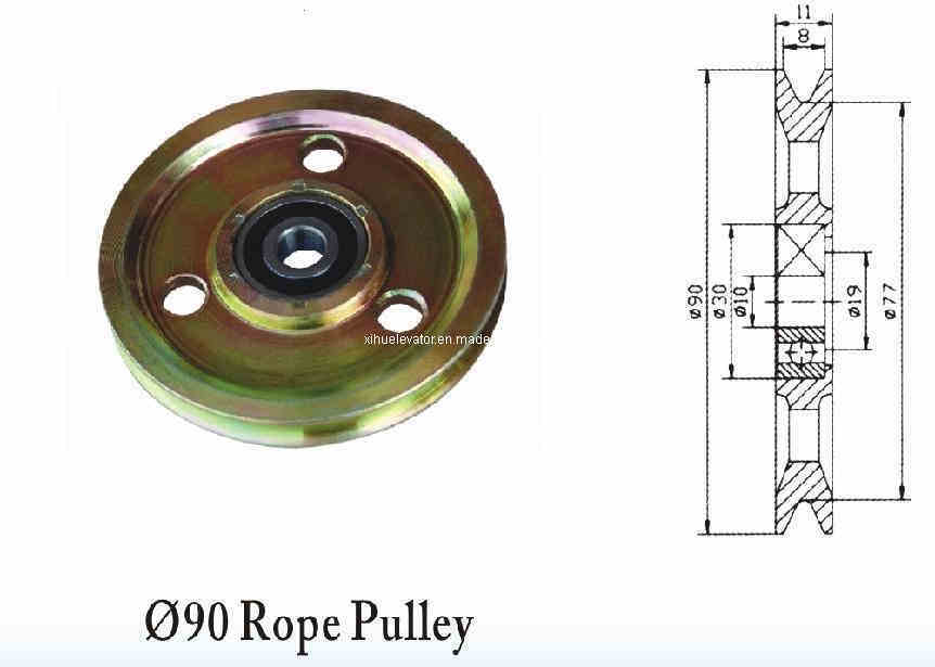 Rope And Pulley Elevator : Elevator parts rope pulley sl c china