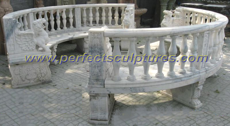China Stone Marble Antique Garden Chair For Outdoor