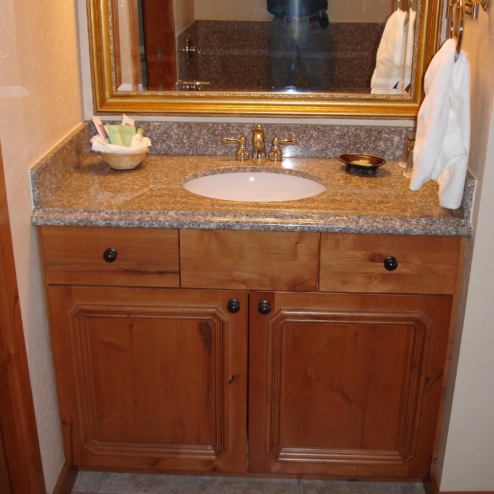 New bathroom vanity counter not square wall ideas for Bathroom vanity tops