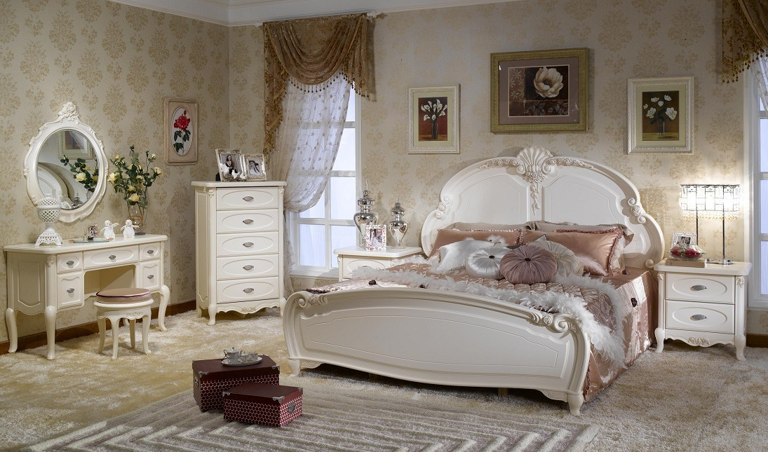 China french style bedroom set furniture bjh 202 china for Chambre a coucher 1940