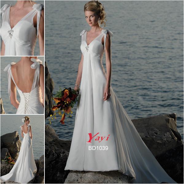 China bridal wedding dress beach wedding dress bd1039 for Beach wedding dresses bridesmaid