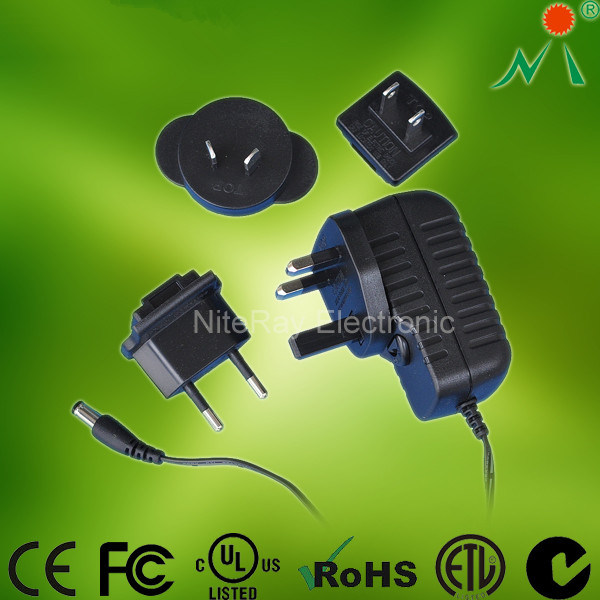AC DC Power Adapter Universal Power Adapter with CE RoHS FCC
