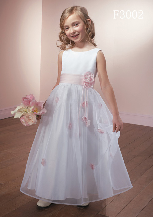 Wedding flower girl dress f3002 for Wedding dress made of flowers