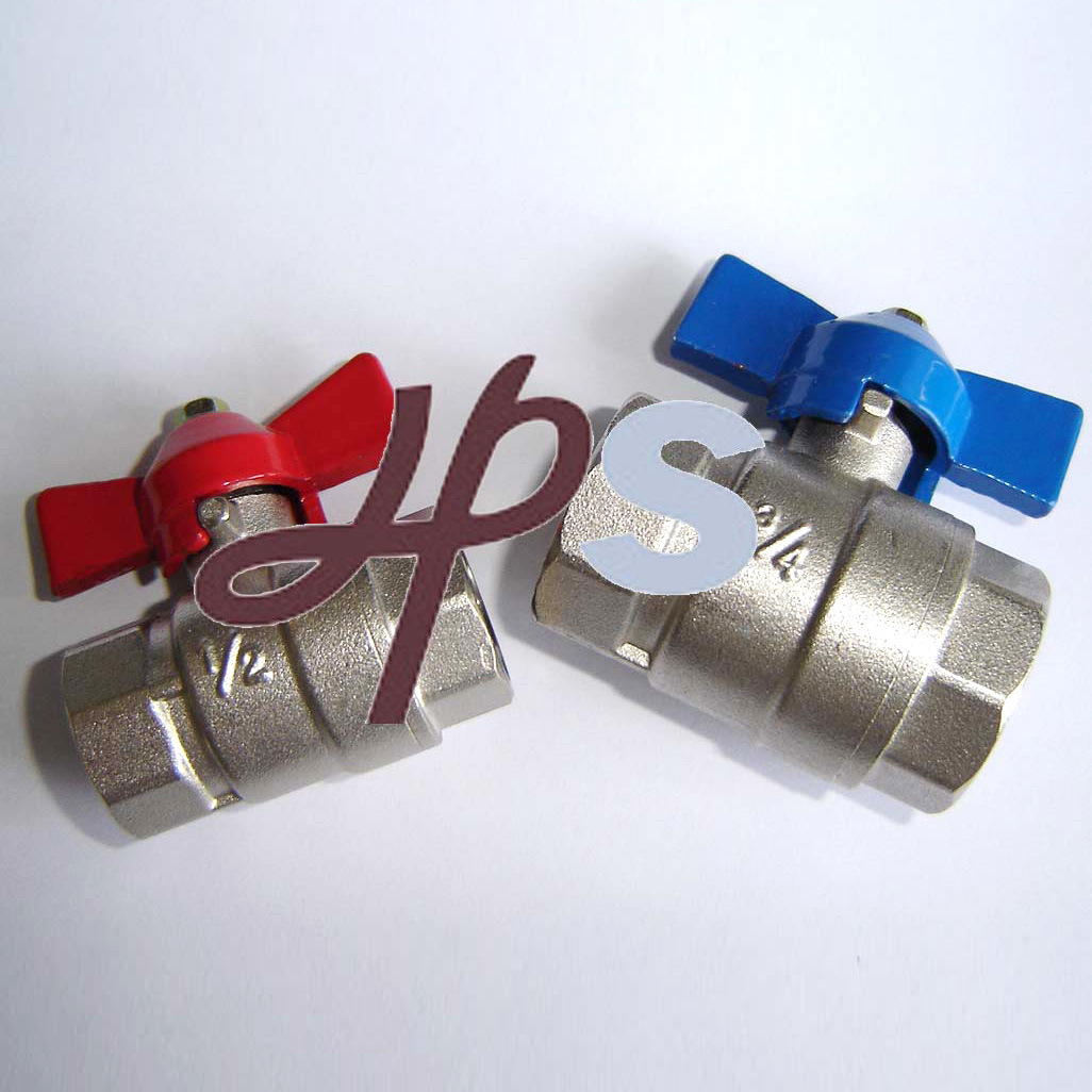 Ce Approved Brass Ball Valve with Butterfly Handle or Steel Long Lever Handle
