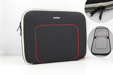 Waterproof Black Constract Stitching Line Shockproof Computer Sleeve