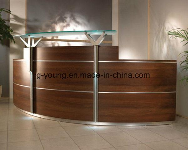Modern Brown Counter Reception Desk Office Furniture