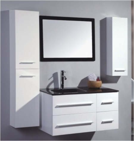 high gloss white color mdf bathroom vanity bl 950 china bathroom