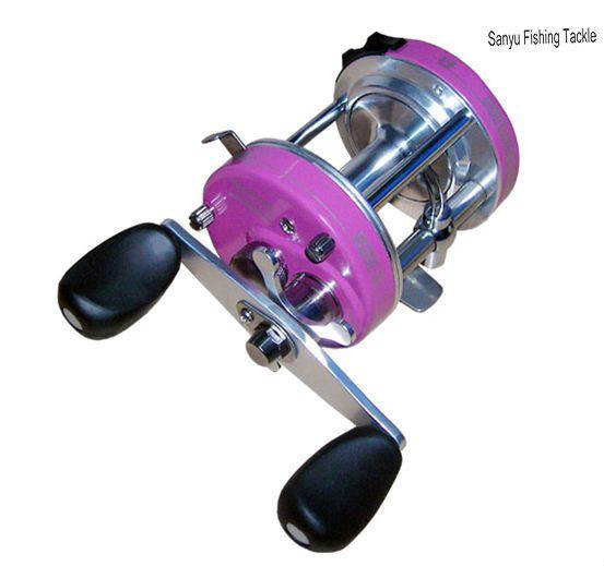 China round baicasting fishing reel sbc6000al pink for Pink fishing reel