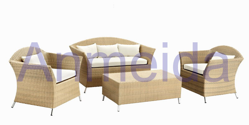 China Aluminum Resin Wicker Sofa Set Af1107 1 Af1107 2 Af1107t China Patio Furnitures