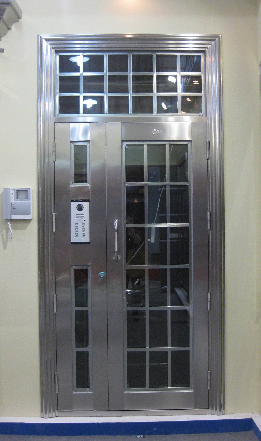 1831 #39435F  Stainless Steel Doors (AFOL S5022) China Security Door Steel Door save image Stainless Steel Entrance Doors 47371087