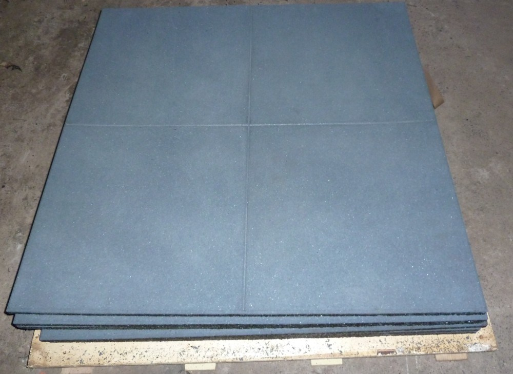 China anti slip shock absorbing crossfit gym floor mats