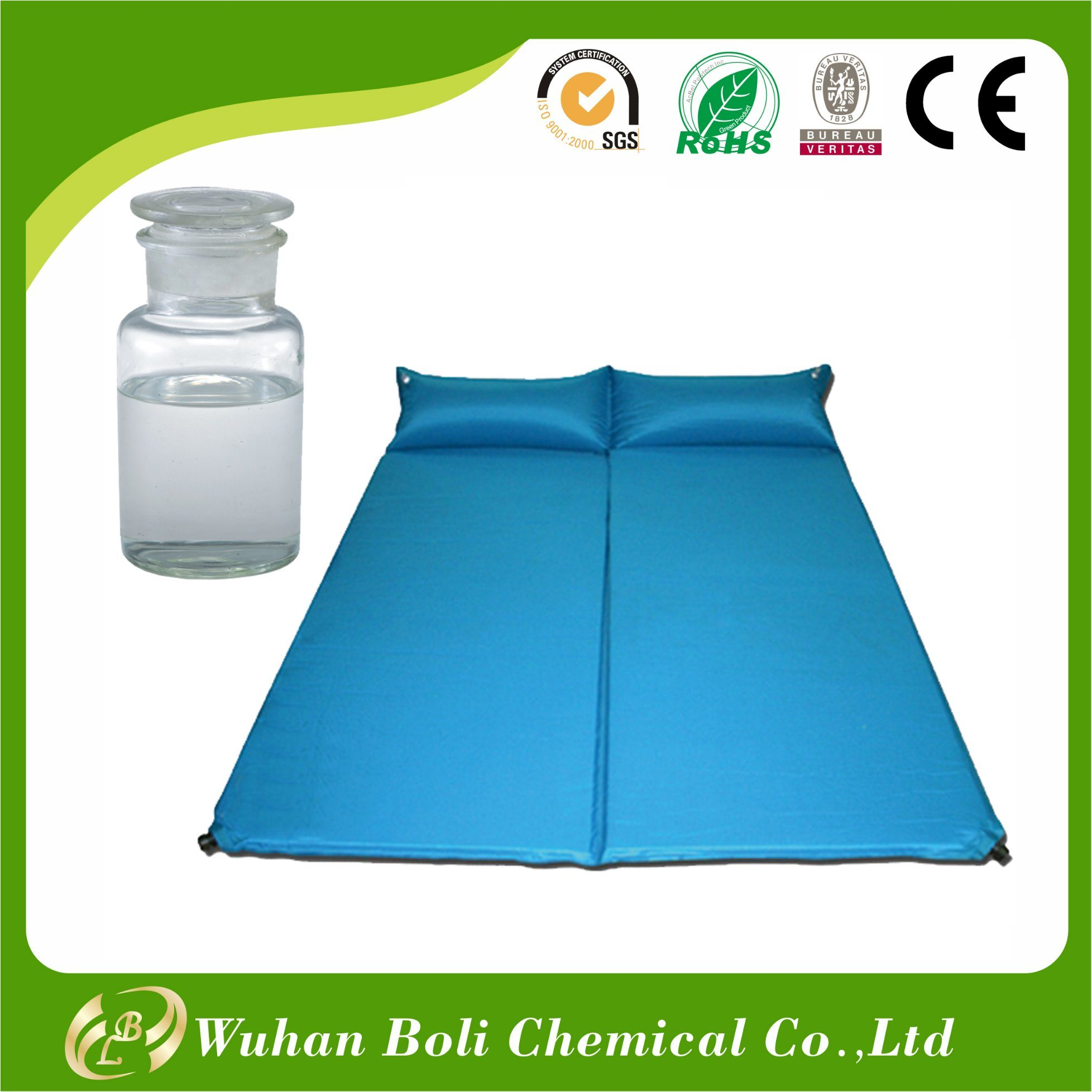 Outdoor Camping Bed Pad Air Inflatable Sleeping Mattress Polyurethane Glue