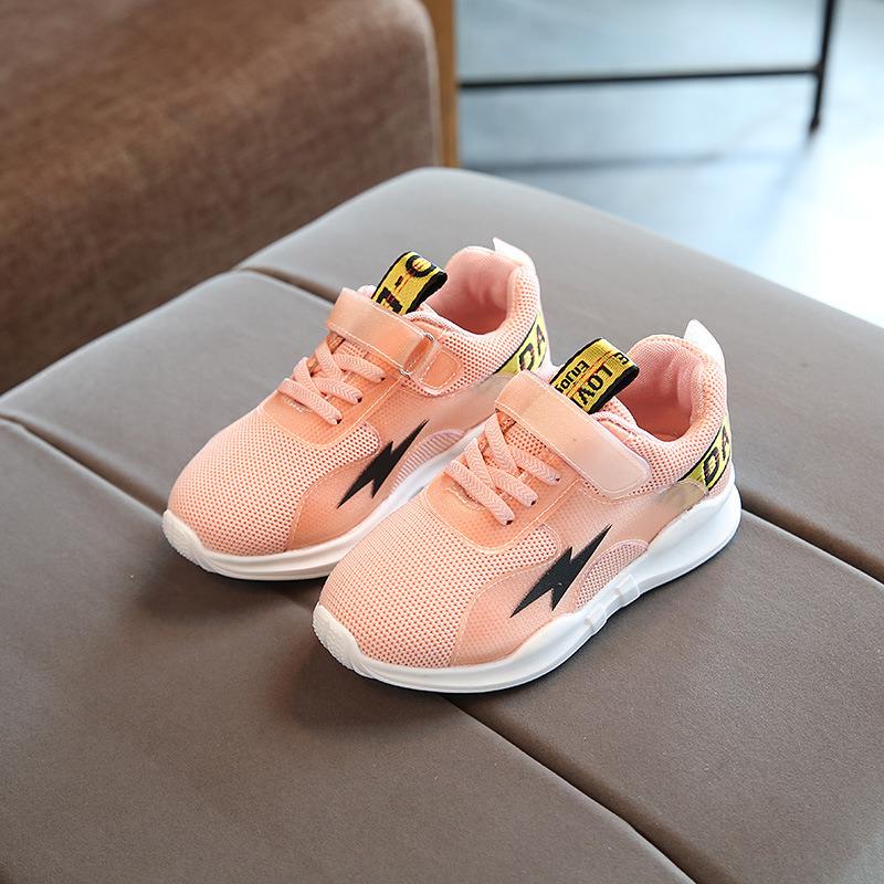 Factory Wholesale OEM Children Unisex Kids Shoes Fashion Colorful Soft Sole Sports Shoes