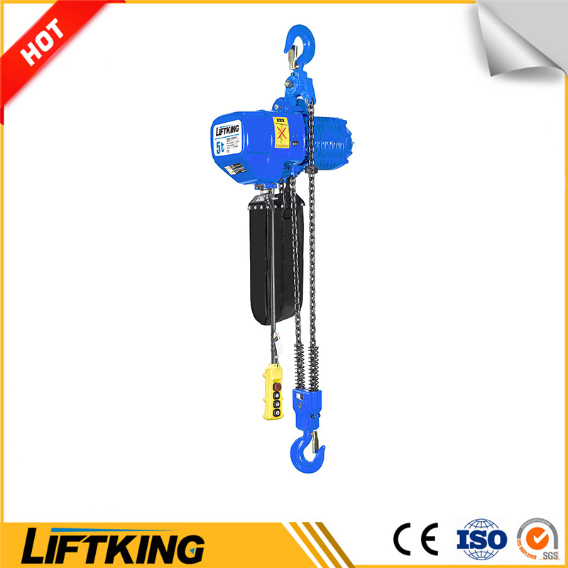 Liftking 5t Kito Type Electric Chain Hoist with Hook Suspension