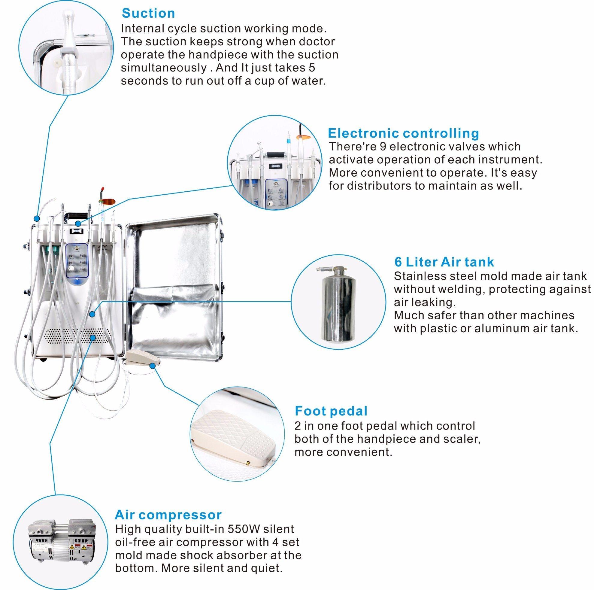 FDA Approved Mobile Dental/ Mobile Dental Unit/ Portable Dental Unit
