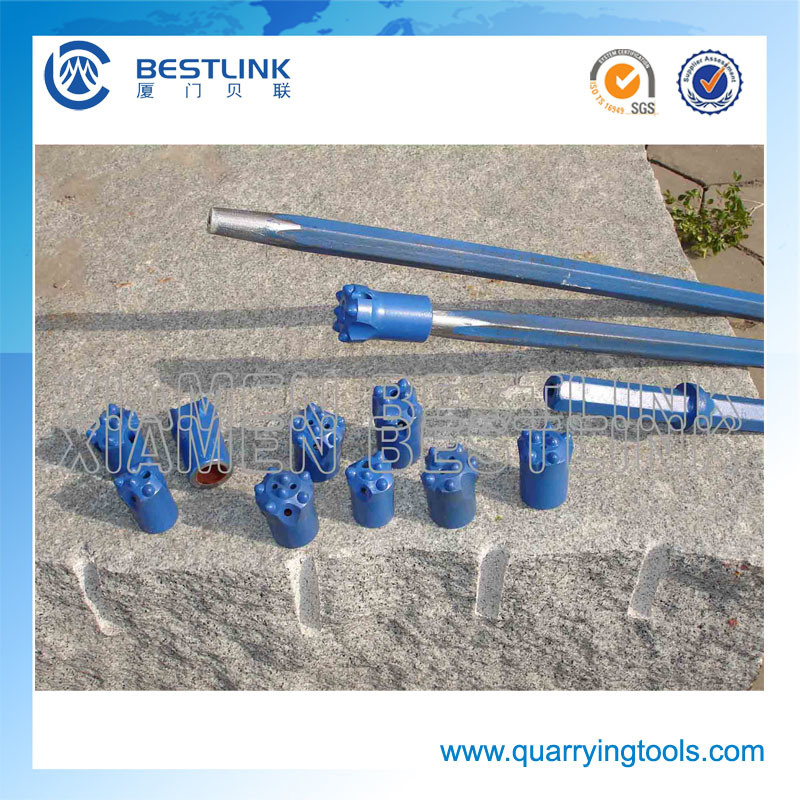 Hex Shank 108mm Taper Drill Rod for Button Drill Bits