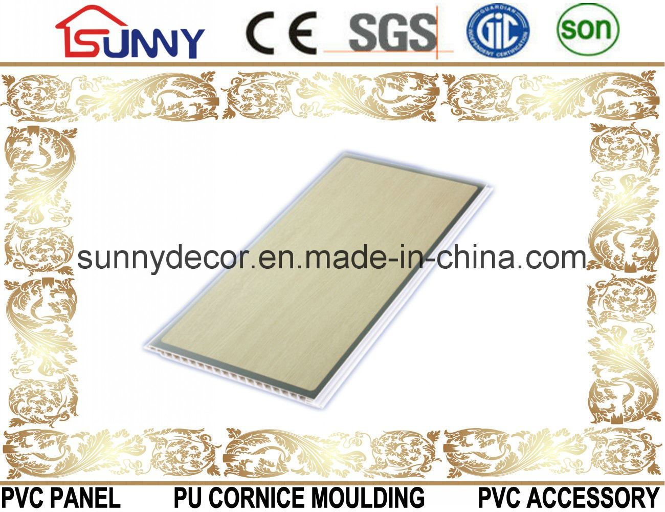 Qualified PVC Ceilings & Wall Panel for Interior Decoration