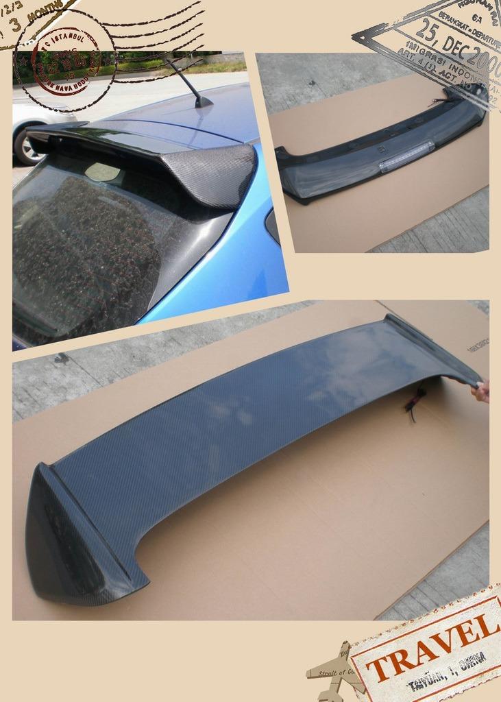 Carbon Fiber Trunk Spoiler Roofline Wing Top Diffuser