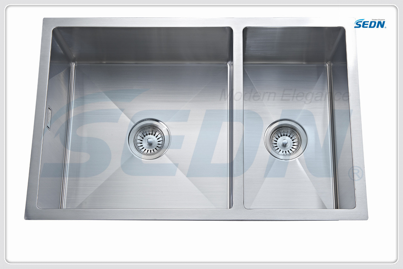 Handmade Double Bowl Stainless Steel Sink (SB2004)