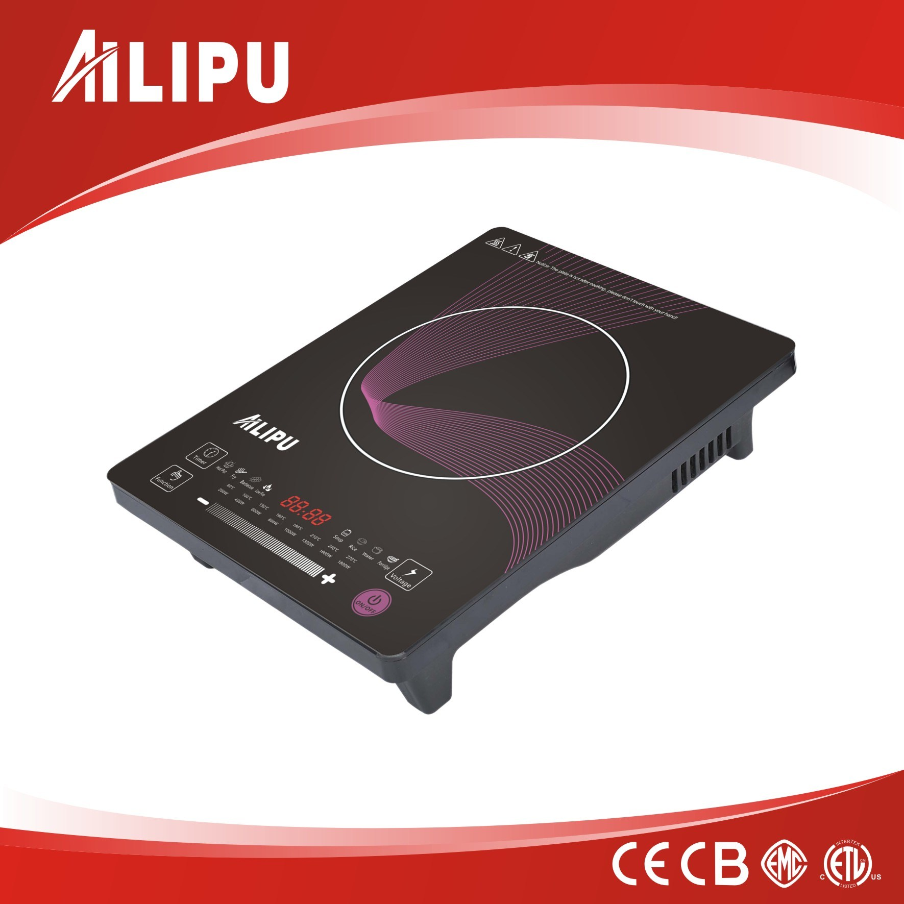 Ultrathin Touch Induction Cooker with Double Aluminium Coil