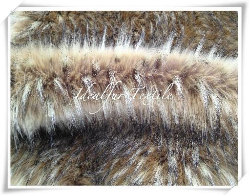 Jacquard Racoon Fake Fur, Faux Fur with Long Pile