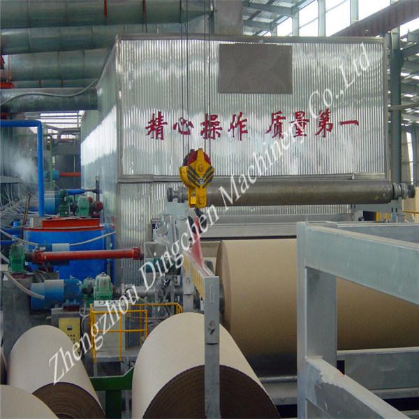 Waste Carton Box Pulping 1760mm Kraft/Brown Paper Making Machine