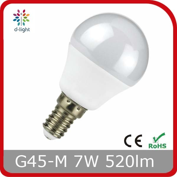 LED Lamp G45m 5W E27 Base Plastic with Aluminum Inside