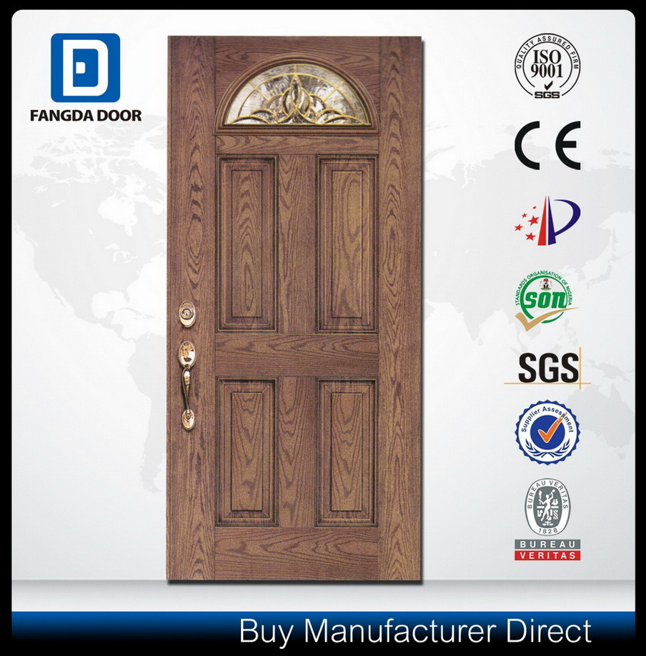 Fangda Fibreglass Double Decorative Glass Door