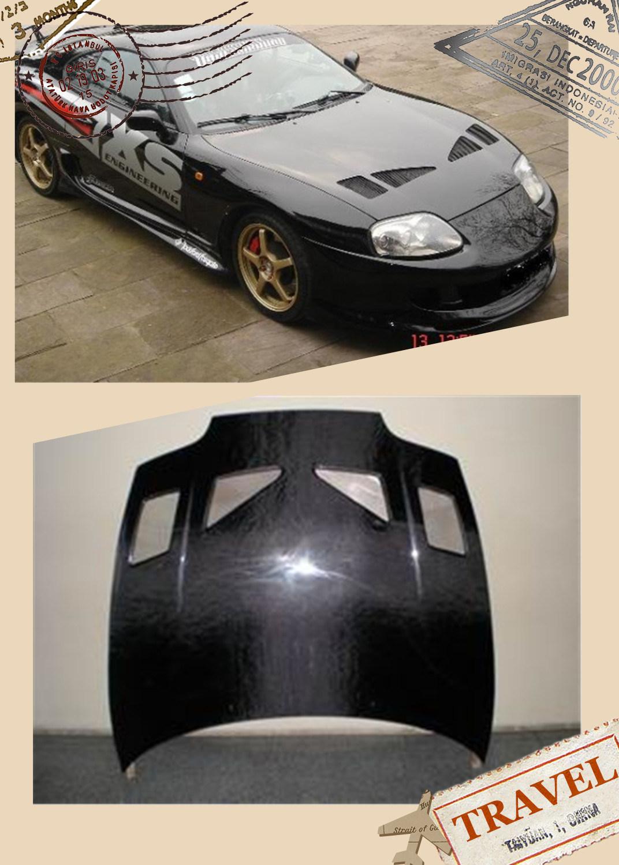 Carbon Fiber Trd Style Hood for Toyota Supra 1995-2000