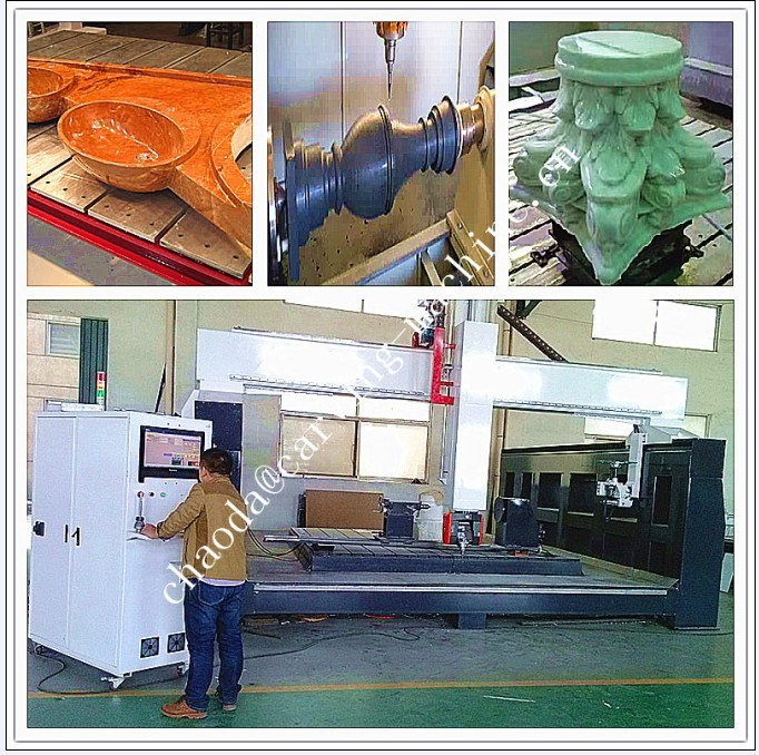 Marble Statue Making Machine / 5 Axis CNC Stone Cutting & Milling Machine