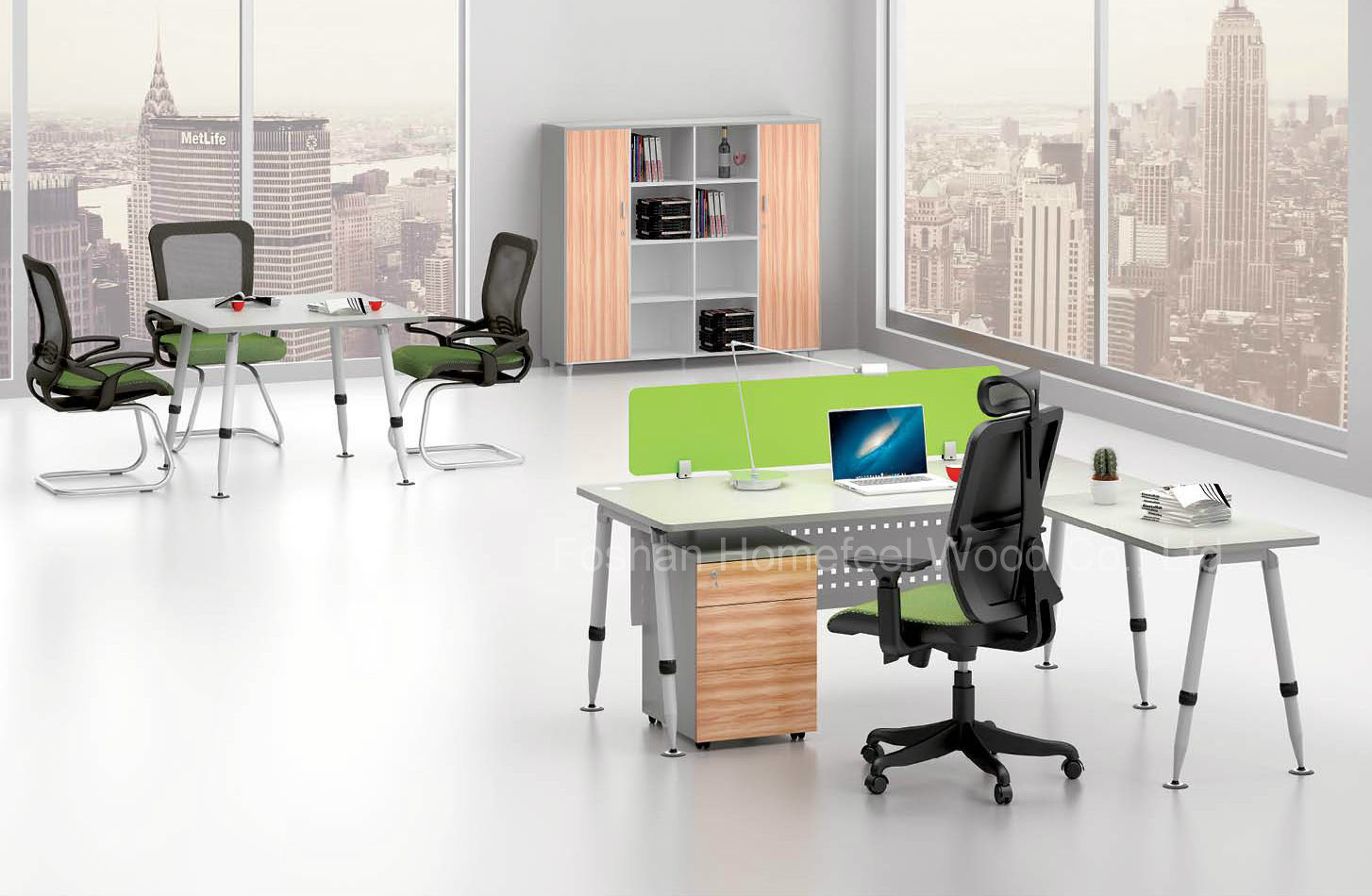 Modern Melamine Office Furniture Office Manager Table (HF-BSA04)