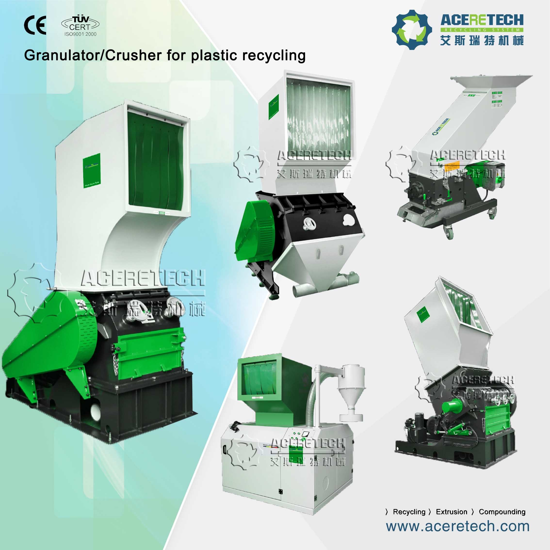 Plastic Recycling Machine for PE/PP/PA/PVC/ABS/PS/PC/EPE/EPS/Pet Washing and Pelletizing