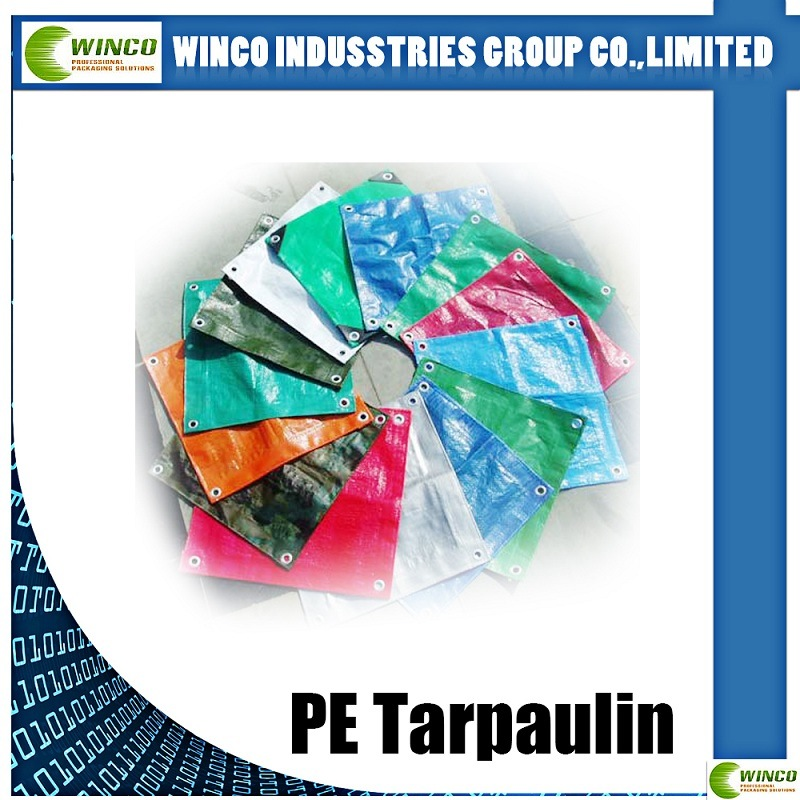 PE Laminated Woven Fabric for Ground Cover, Laminated PE Tarpaulin for Tent Cover, Truck Cover