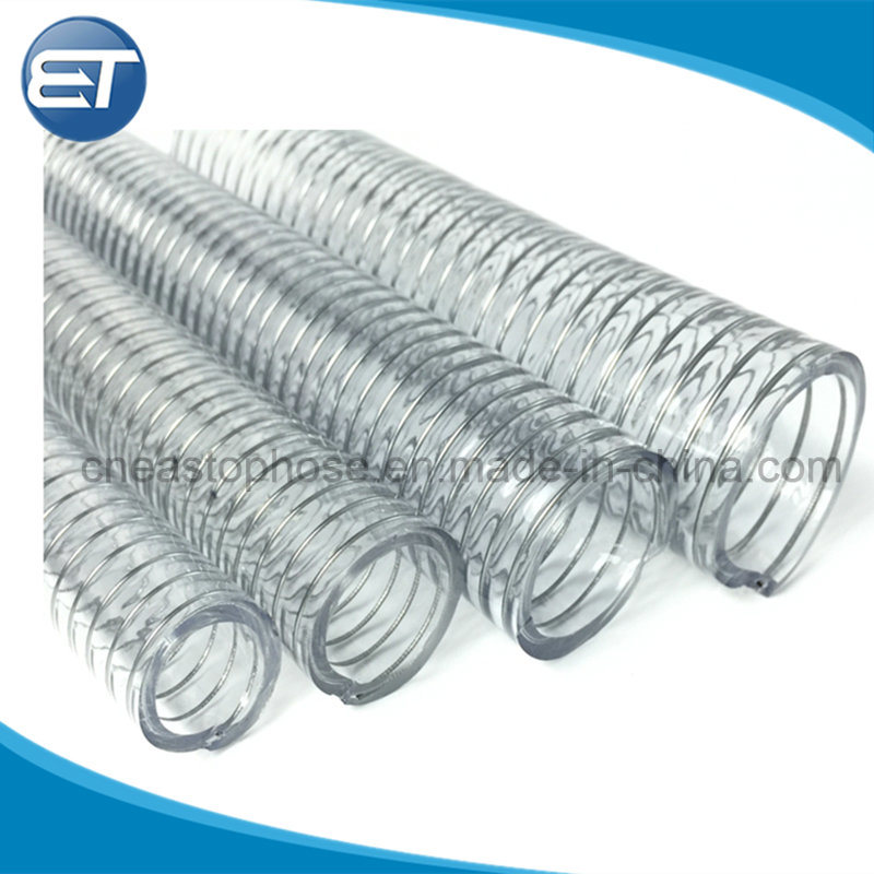 China PVC Steel Wire Reinforced Hose for Rigid Fully Vacuum Suction ...