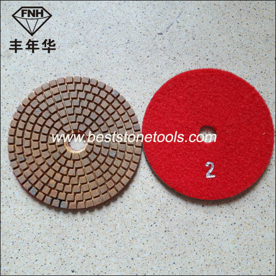 Wd-11 Diamond 3 Step Wet Flexible Polishing Pad