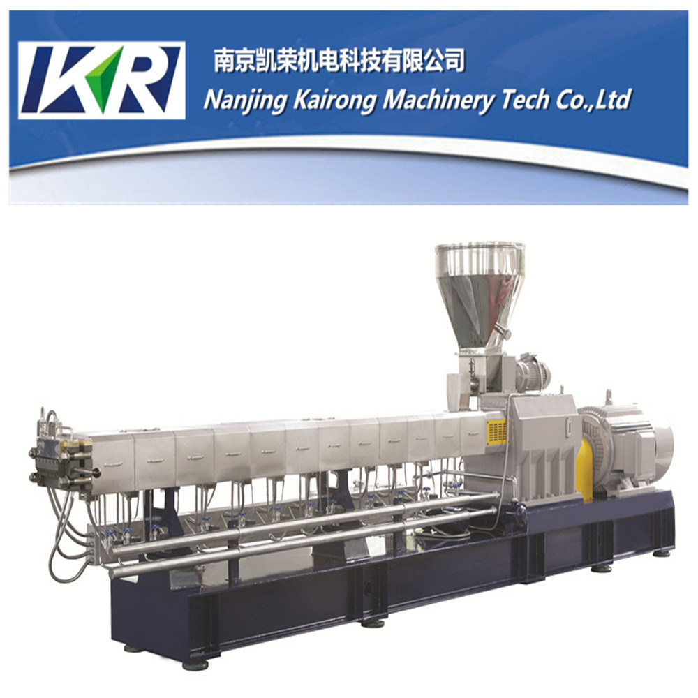 Nanjing Plastic Granules Pelletizing Twin Screw Plastic Extruder Machine Price