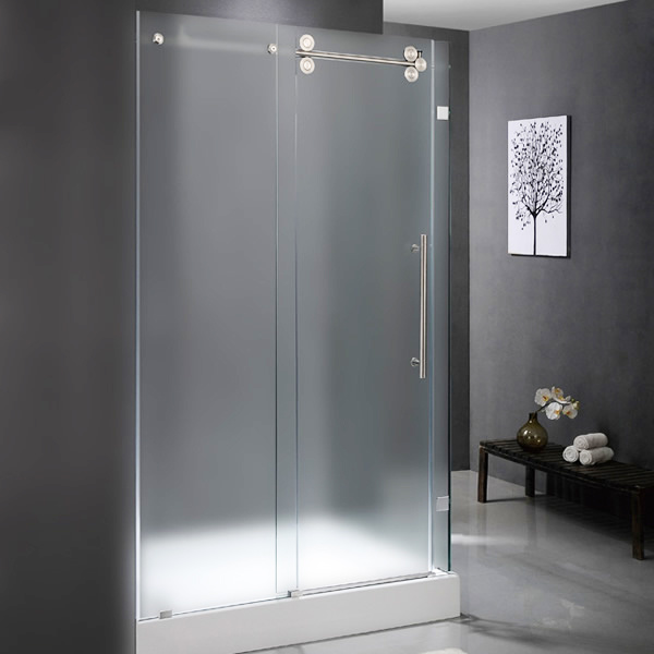 china customized cheap sliding glass fameless shower door photos
