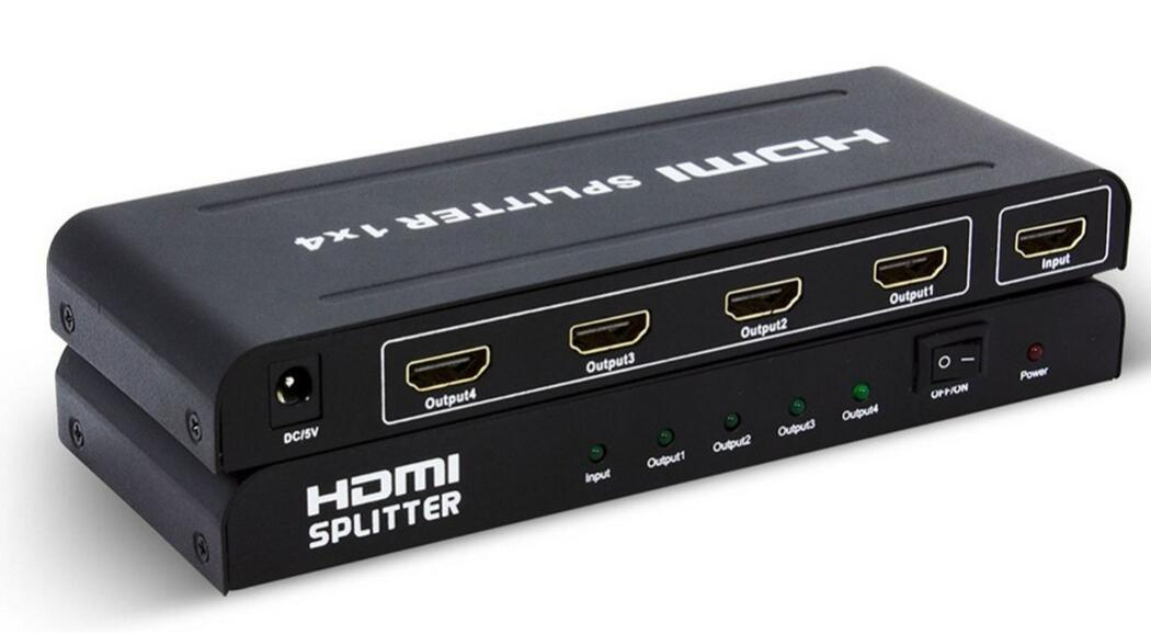 HDMI Splitter 1X4 up to 1080P Support 3D