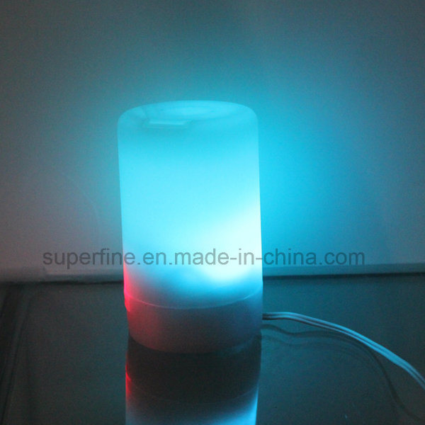 Portable USB Small Mini Aroma Plastic LED Diffuser with USB Charger for Car Using