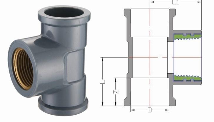 PVC Plastic Plumbing Pipe Fittings NBR5648/ BS 4346 DIN