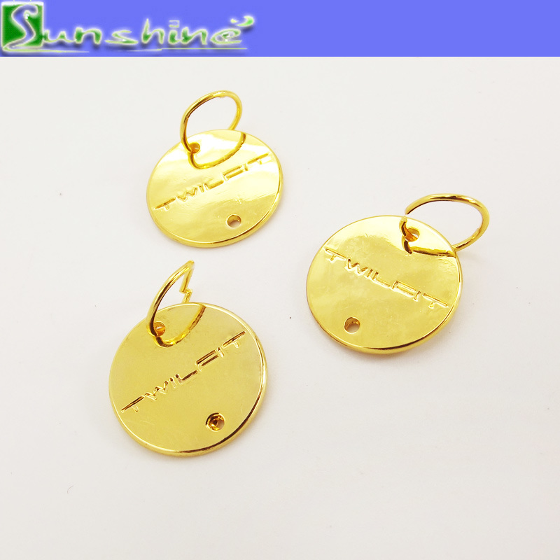 Garment Accessories Metal Plated Logo Label