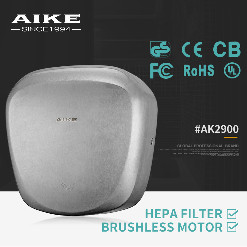AK2900 Commercial Bathroom Electric Automatic Stainless Steel Hand Dryer