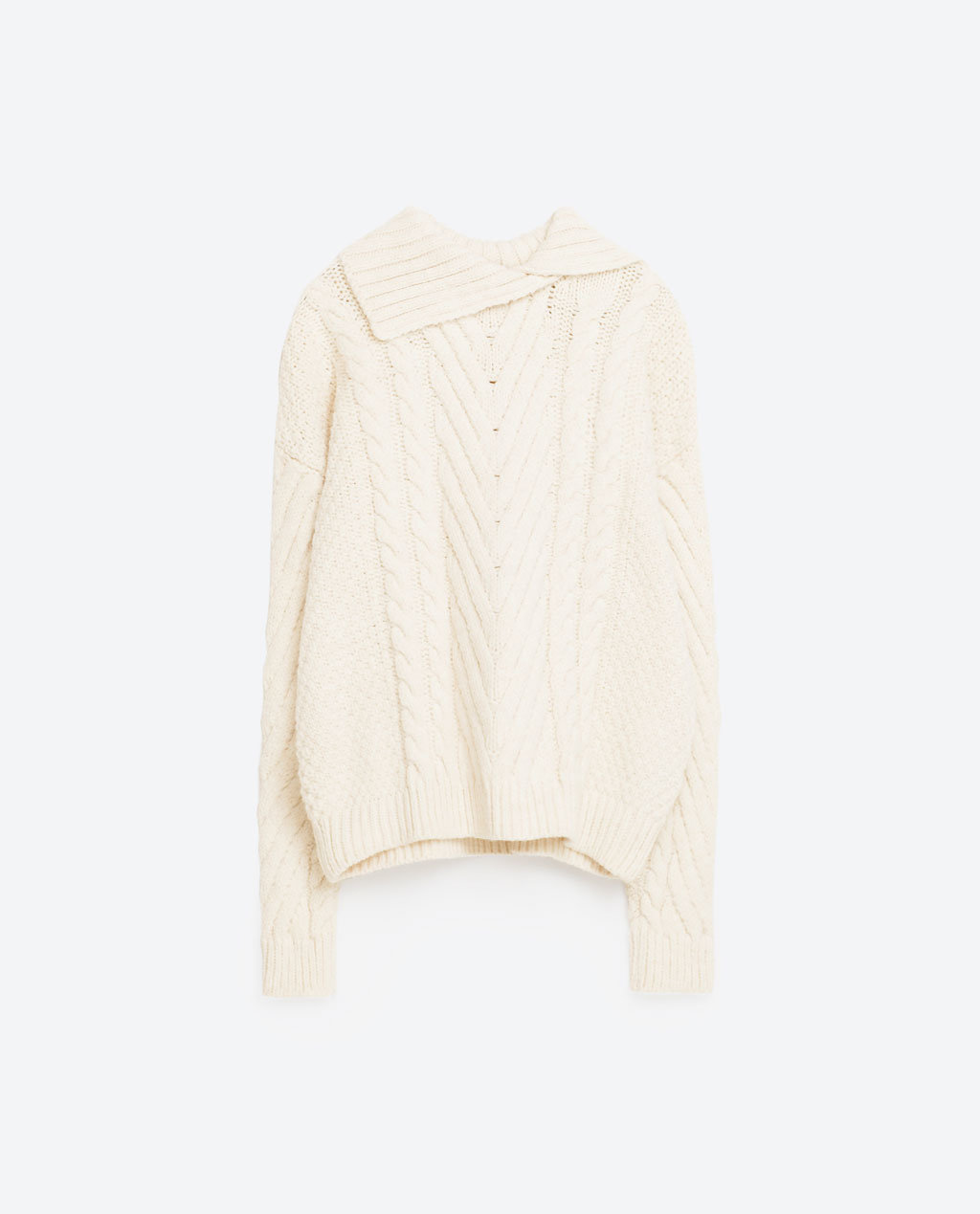Women Cable Knitting Sweater
