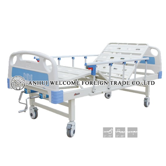 ABS Hospital Bed Without Overbed Table