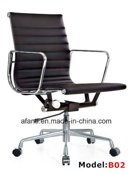 Modern Furniture Swivel Office Aluminum Leather Hotel Eames Chair (RFT-B02)